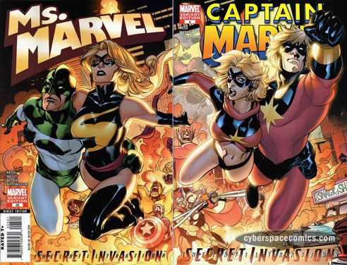 Ms. Marvel vol. II #25 variant & Captain Marvel vol. VII #4 variant