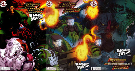 Starship Troopers: Damaged Justice #1 A B C